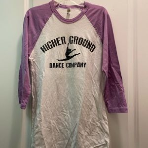 Higher Ground Dance Company baseball tee